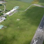 Vue aérienne de l'aérodrome