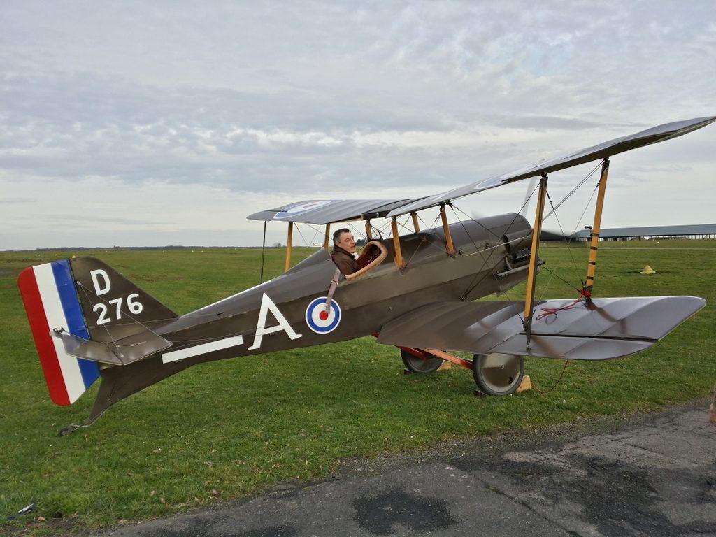 SE5. Réplique à l'échelle 7/8 d'un avion de combat anglais de la première guerre mondiale.