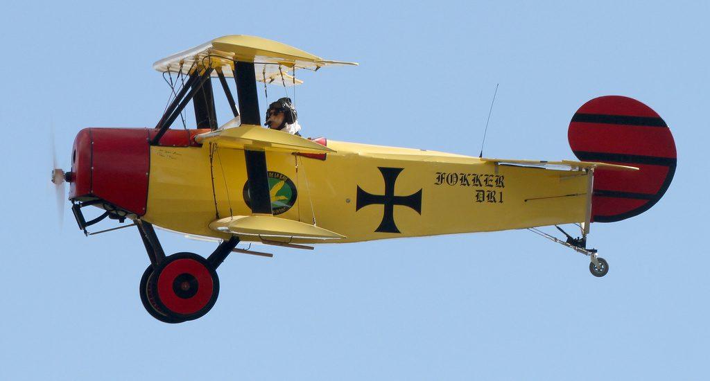 Fokker DR1 ici piloté par Jack Krine.